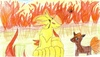 Clamperl: Ninetales,Vulpix a hořící pokéball